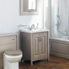 Old London Stone Grey Vanity Unit 600mm - Traditional Vanity Units - Vanity Units - Bathroom Furniture