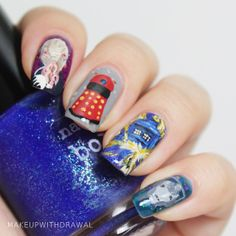 Dr. Who 50th Anniversary nails