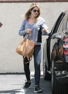 Keeping it casual: Candace Cameron Bure, who is often seen quite dressed up at rehearsal, kept things casual in workout attire on Friday