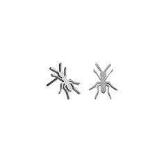 Polished steel ant studs