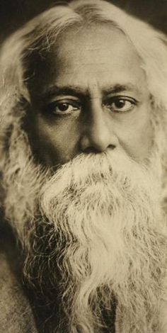 """Rabindranath Tagore: Poet Philosopher """"A mind all logic is like a knife all blade. It makes the hand bleed that uses it. Rabindranath Tagore, Calcutta, Bengali Song, Nobel Prize In Literature, Famous Poets, History Of India, Spiritual Teachers, Rare Pictures, Spiritual Inspiration"""