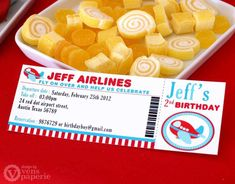 Airplane Birthday Party Ideas | Photo 12 of 28 | Catch My Party