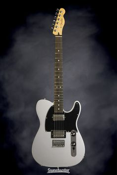 Fender Blacktop Telecaster HH - Silver, Rosewood  | Sweetwater.com | Solidbody Electric Guitar with Alder Body, Maple Neck, Rosewood Fingerboard, and 2 Humbucking Pickups - Silver