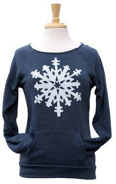 Snowflake Throwback Sweatshirt in navy