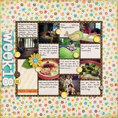 Week 18 Instagram Page: Weekly Project Templates 5 by Scrapping wtih Liz, Capture Life: May by Tracie Stroud and Capture Life: Mega Alpha Pack by Tracie Stroud Designs.