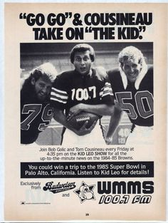 For Clevelanders - 1984 Kid Leo of WMMS and Cleveland Browns Buzzard advertisement