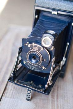 Vintage Dark Blue No 1 Pocket Kodak Junior by SimplySweetStudio, $60.00