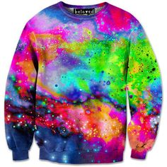 Neon Galaxy Sweatshirt