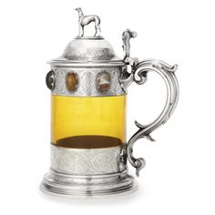 A Victorian Silver, Glass and Hardstone-mounted Tankard, Edward Barnard & John Barnard, London, 1856 | Lot | Sotheby's