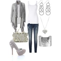 2013 FashionistaTrends | Casual Outfits | Gray & White casual-outfits-50 – Fashionista Trends