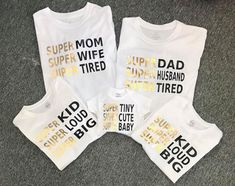 Items similar to Super Mom Super Dad Super Kid Super Baby Family tshirts funny family shirts statement tee Personalized to you on Etsy - Funny Kids Shirts - Ideas of Funny Kids Shirts - Family Tees, Family Humor, Funny Family, Cool Kids T Shirts, Funny Kids Shirts, Sibling Shirts, Couple Shirts, Mommy And Me Shirt, Statement Tees