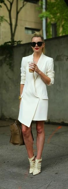 Classic Coat Dress with Leather Bag and Chic Heels...