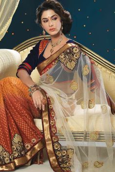 Your ultimate destination for delicately designed party wear Sarees only @ Ethnicstation.com  http://ethnicstation.com/shop/catalog/product/view/id/5083/s/multicolour-colour-viscose-saree/category/38/