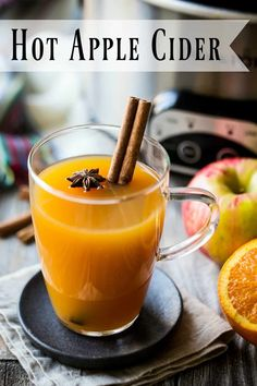 Hot Apple Cider: Make it in the crock pot or on the stove. So cozy! Try spiking it for a boozy fall cocktail. #hotapplecider #applecider #mulledcider #drink #crockpot #easy #spiked #fall #recipe #onthestove #foracrowd #alcohol #bar #homemade #best #cocktail #stovetop #slowcooker #simple #mulled #party #quick #howtomake #forkids #boozy #incrockpot #spices #DIY #bakingamoment Hot Apple Cider Spiked, Hot Apple Cider Cocktail, Apple Cider Uses, Apple Cider Drink, Mulled Apple Cider, Homemade Apple Cider, Spiced Cider, Cider Bar, Crockpot