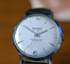 Superb quality French made time piece made by Salvest. Salvest, usually known for stylish mid century clocks and at the height of their power in the middle of the 20th century they branched out to wrist watches. Not many of these around, so rare.
