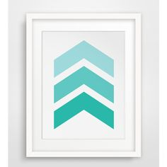 Chevron Wall Art, Turquoise Chevron Print, Turquoise & Teal, Chevron Print, Summer Art, Chevron Art, Turquoise, Teal, Green, Blue (31 CNY) found on Polyvore