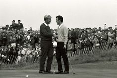 """""""The concession!"""" 1969 - Nicklaus concedes a two-footer to tie the Ryder Cup ; Mostini loved his golf and had great respect for """"The Golden Bear"""". Ryder Cup, Jack Nicklaus, Fine Art Prints, Canvas Prints, National Photography, Team Usa, Photographic Prints, Great Britain, Golf Clubs"""