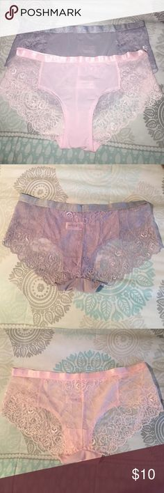 1d3e54fdf3564 LACE HIPSTERS BOYSHORTS Pink and Gray full lace back panties SOPHIE B.  Intimates & Sleepwear Panties