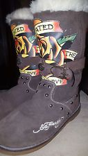 #EdHardy #MultiColored #Brown #WinterBoots #Authentic
