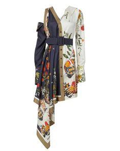 Kpop Fashion Outfits, Stage Outfits, Girl Outfits, Fashion Dresses, Womens Fashion, Mode Batik, Batik Fashion, Batik Dress, Asymmetrical Dress