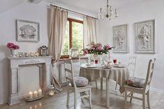 Detalii gingașe în acest frumos interior feminin, din Polonia, amenajat în stil provensal.