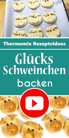 Glücksschweinchen aus Hefeteig als Glücksbringer für Silvester. These lucky pigs are really always and always great. A great souvenir on a New Year's Eve party Party Buffet, Sweets Cake, Pastry Cake, Food Design, No Bake Cake, Kids Meals, Good Food, Brunch, Food And Drink