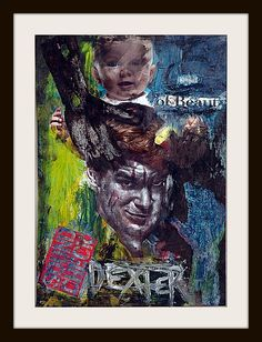 Dexter  ABSTRACT CELEBRITY PRINT by AbstractCeleb on Etsy, $20.00