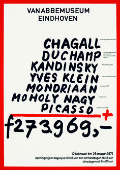 Chagall Etc. poster, Jan Van Toorn, for Van Abbemuseum, Eindhoven, 1971, Courtesy Of The Monacelli Press