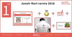 "#eetti #JuniorRaviVarma 2016 1st Prize for 1st to 5th standard goes to ""A.C.Raghavi"".  For more details visit https://www.facebook.com/eettidotcom"