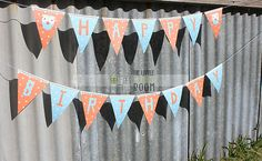 """NEW! Giggle And Hoot """" Hoot """" Happy Birthday Wall Bunting Flags Party Decoration 