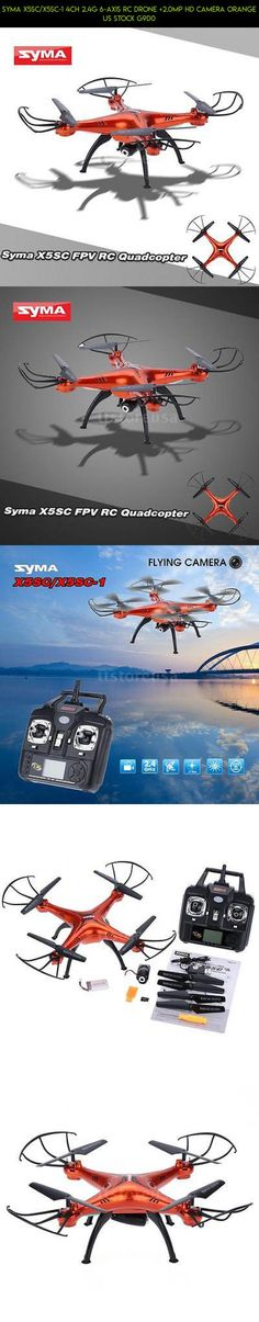 Syma X5SC/X5SC-1 4CH 2.4G 6-axis RC Drone +2.0MP HD Camera Orange US Stock G9D0 #fpv #racing #tech #gadgets #shopping #plans #camera #parts #drone #kit #orange #technology #syma #products #drone