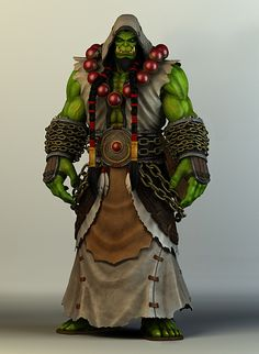 World of Warcraft Fan Art. Thrall, Azeroth's greatest shaman.