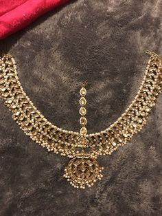 Gold Maatha Patti (head piece jewelry) (NEVER USED) Pakistani Bridal Jewelry, Bridal Jewellery, Wedding Jewelry, Headpiece Jewelry, Hair Jewelry, Costume Jewelry, Diy Jewelry Rings, Jewelry Sets, Jewelry Accessories