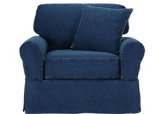 Shop for a Cindy Crawford Home  Beachside Denim Chair at Rooms To Go. Find Chairs that will look great in your home and complement the rest of your furniture.