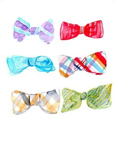 bowties ~ so cute on a canvas!