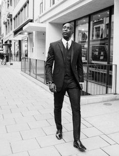 Nothing like a well-dressed man! Ozwald Boatang - Bespoke Couture Suitmaker to the stars.. love it