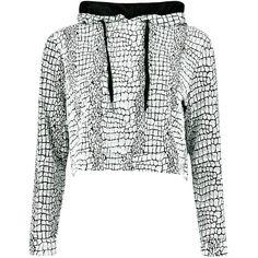 Maria Jacquard Overhead Hoodie ($2.82) ❤ liked on Polyvore featuring tops, hoodies, sweatshirts, jackets, sweaters/sweatshirts, white hoodies, jacquard top, hooded sweatshirt, white top and hooded pullover