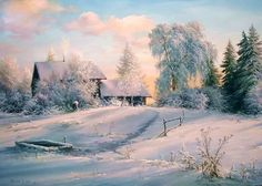 handmade landscape of snow landscape oil painting oil painting snow paintings oil paintings Parlour picture Bob Ross Paintings, Realistic Paintings, Painting Snow, Winter Painting, Watercolor Landscape, Landscape Paintings, Oil Paintings, Winter Szenen, Winter Illustration