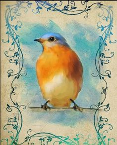 Blue bird print-fineartamerica