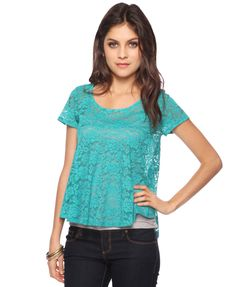 Lace- have this shirt!