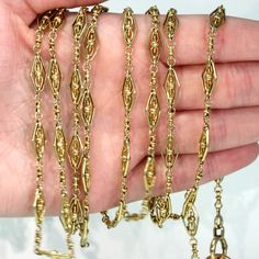 Long Pearl Necklaces, Short Necklace, Gold Platinum, 18k Gold, Antique Jewelry, Vintage Jewelry, I Love Gold, Gold Value, Chain Links