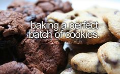 baking a perfect batch of cookies