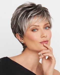 Gray Hair Styles Awesome 21 Impressive Gray Hairstyles For Women  Pinterest  Gray Hair