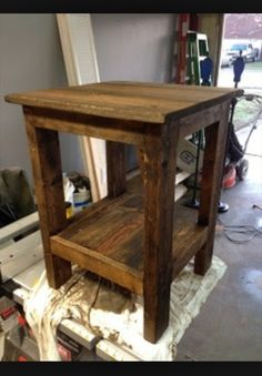 Pallet End Table ...