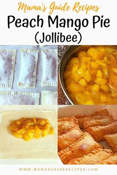 These Peach Mango Pies are so crispy, warm and freshly cooked. You can imagine the nice peach mango filling Pinoy Dessert, Filipino Desserts, Filipino Food, Filipino Dishes, Easy Filipino Recipes, Peach Mango Pie, Mango Cake, Mango Dessert Recipes, Easy Cake Recipes