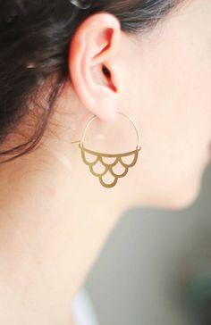 Handmade Brass Earrings | ShopRareBird on Etsy