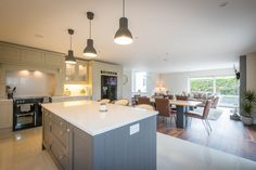 Full service firm in Trim, Meath. Beautiful Kitchen Designs, Beautiful Kitchens, House Designs Ireland, Farmhouse Renovation, Irish Cottage, Cottage Living, Open Plan Kitchen, House Plans, Building