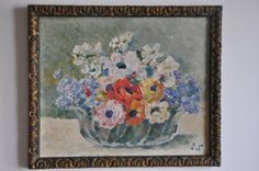 French Oil Painting Vintage Painting Antique by FrenchArtAntiques