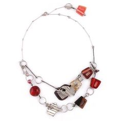 Items similar to Red color necklace with a detachable bracelet made of pewter, glass, resin and wood - Kilian (OLF Collection) on Etsy Christmas Wishes, How To Make Beads, Bracelet Making, Red Color, Tech Accessories, Pewter, Glass Beads, Bling, Etsy