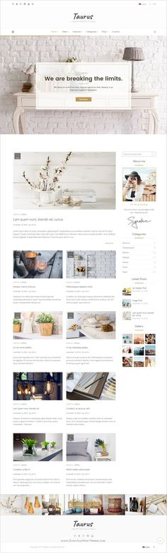 Taurus is a clean and #minimalistic responsive #WordPress #Blog theme, suitable for a wide variety of personal or corporate blog websites download now➩ https://themeforest.net/item/taurus-personal-blog-theme/16910661?ref=Datasata